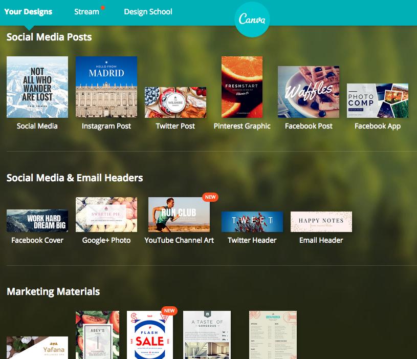 Canva Screenshot Options