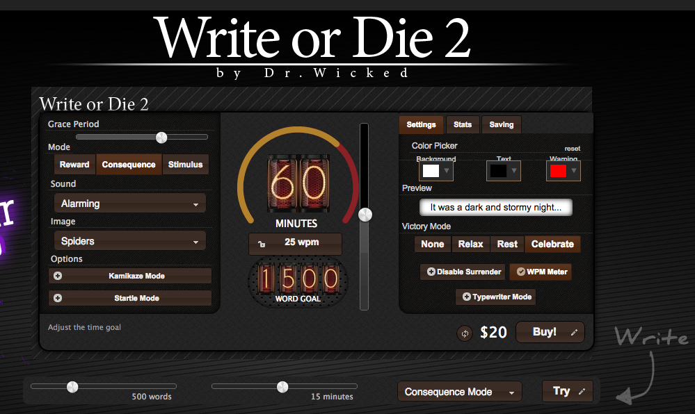 Write or Die Screenshot