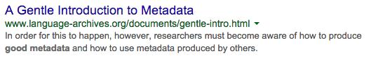 Good Search Metadata Example