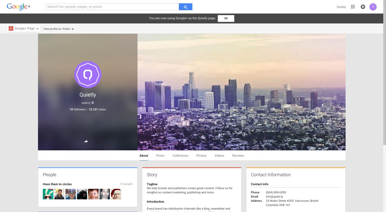 Quietly Google+
