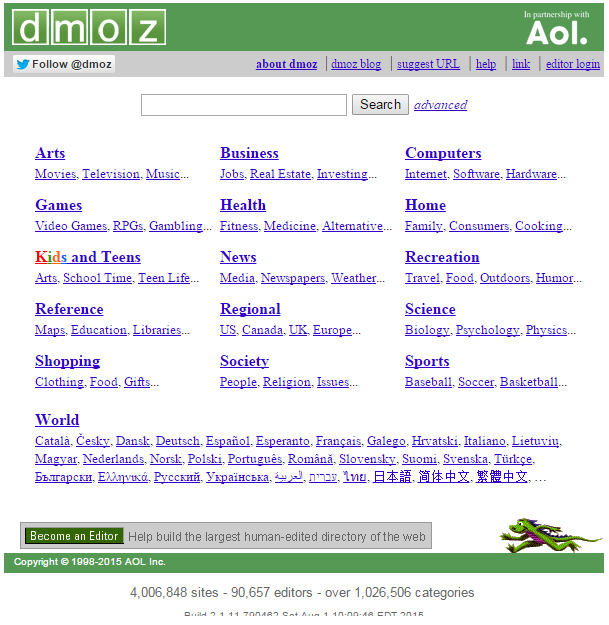 DMOZ screenshot